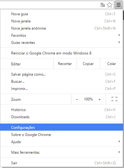 Chrome Configuracoes