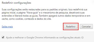 Chrome Redefinir