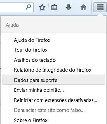 Firefox Dados Para Suporte