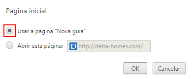 Chrome Pagina Inicial Delta Homes