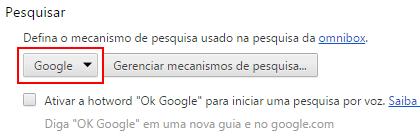 Chrome Mecanismo De Pesquisa