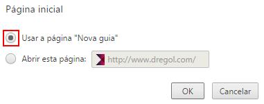Chrome Pagina Inicial Dregol