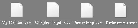 Remova dos ficheiros .vvv
