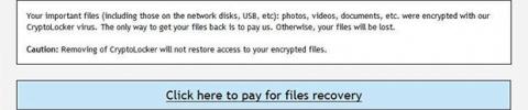 Remova o CryptoLocker