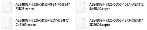 Remova dos ficheiros .zepto