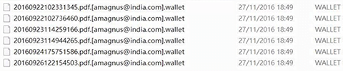 Remoção do ransomware vírus wallet