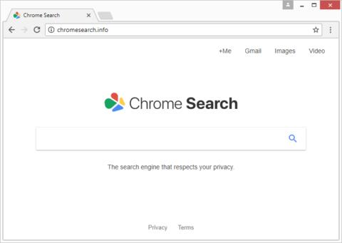 A página chromesearch.info a fazer passar-se pela Chrome Search