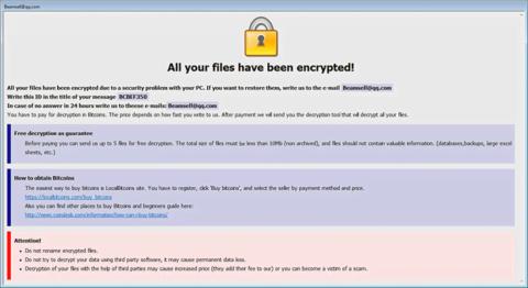 Notas de resgate .combo ransomware