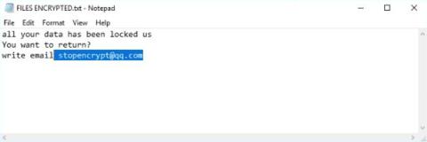 FILES ENCRYPTED.txt, mais uma versão das notas de regaste do ransomware .adobe