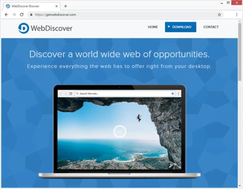 O editor do WebDiscover Browser descreve o aplicativo como a melhor coisa