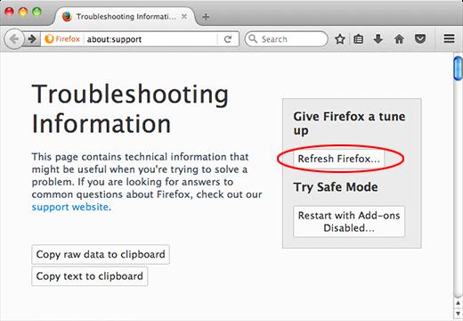 Mac Firefox Refresh