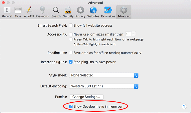 Mac Safari Advanced