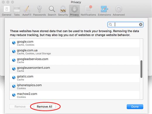 Mac Safari Remove Website Data
